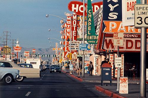 Autoansicht des Strips von Las Vegas / Foto: Denise Scott Brown