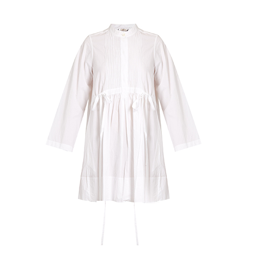 Pintucked cotton-poplin dress Chloé