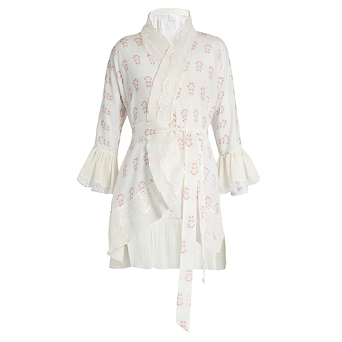Summer Morning short silk kimono von Athena Procopiou