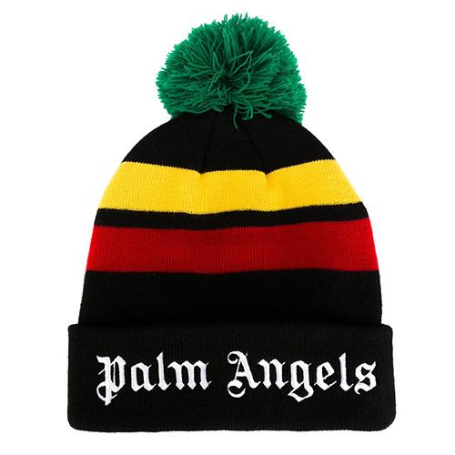 'Rastafari' Strickmütze mit Bommel von Palm Angels