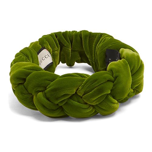 Braided-velvet headband von Gucci