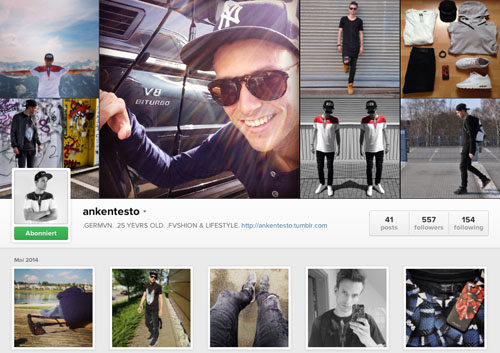Instagram Männer-Account - ankentesto