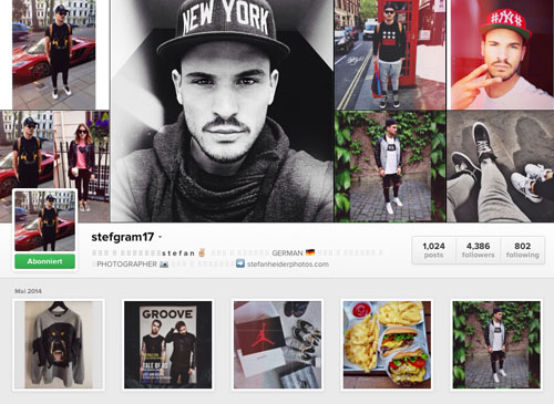 Instagram Männer-Account: Stefgram17