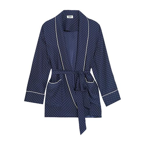 Agnelli Jacke aus bedruckter Seiden-Charmeuse von Sleepy Jones
