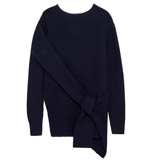 Drapierter Pullover aus einer gerippten Woll-Yakmischung von 3.1 Phillip Lim