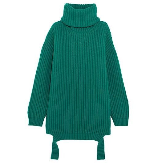 Gerippter Rollkragenpullover aus Wolle in Oversized-Passform von Balenciaga