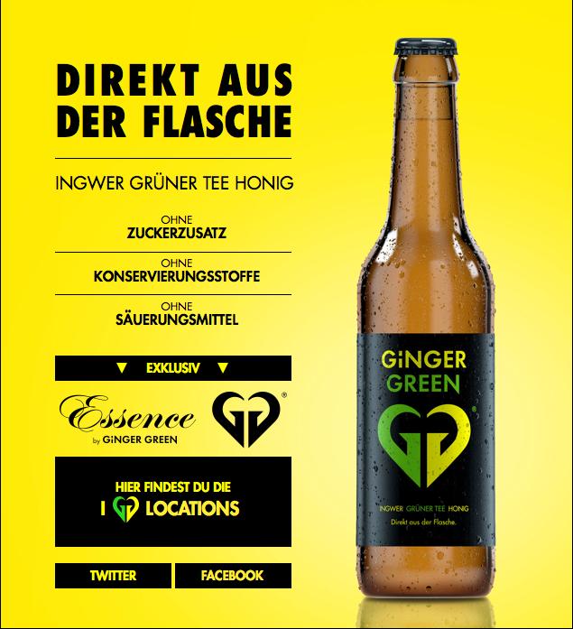 Ginger Green Getränk gegen Kater