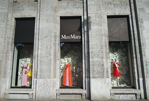 Schaufenster des Monats: Max Mara
