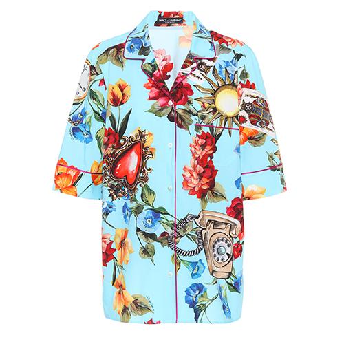 Bluse aus Baumwolle und Seide von Dolce & Gabbana über mytheresa.com / Foto: PR
