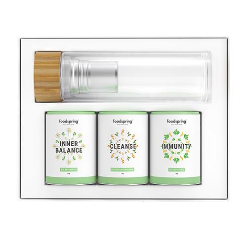 Tee-Set für Inner Balance, Cleanse und Immunity von FOODSPRING / Foto: PR