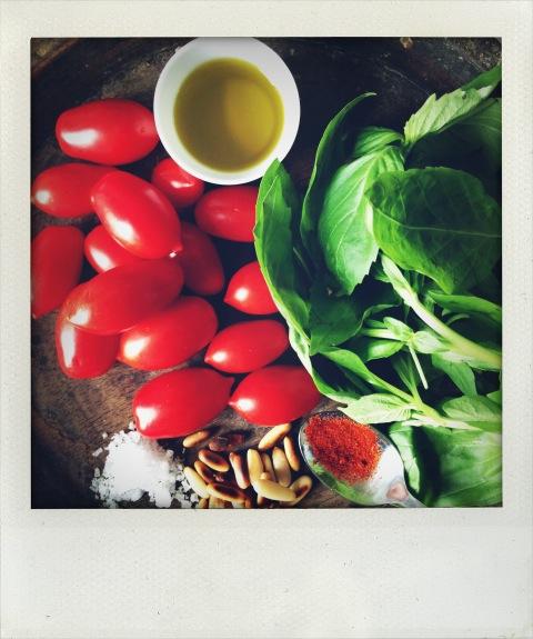 Raw Pesto Zutaten