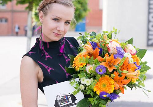 Julia Böhm ist die Gewinnerin der JAB Anstoetz Spot-Challenge