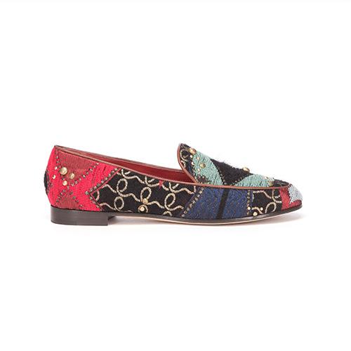 Loafer aus Satin und Stoff von Giorgio Armani / Foto: PR