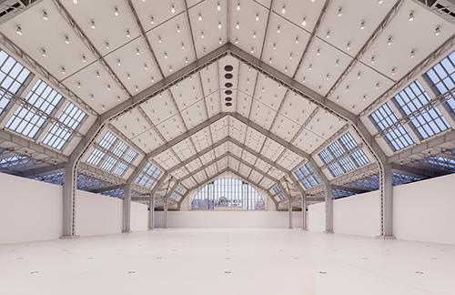Blick in die sanierte und leere Halle für aktuelle Kunst, Februar 2015 © Henning Rogge / Deichtorhallen Hamburg