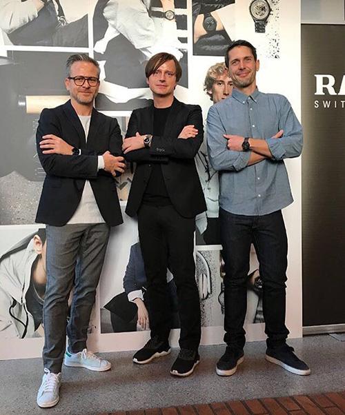 Die Designer Rainer Mutsch, Oskar Zieta und Augustin Scott de Martinville vom Big-Game Designstudio (v l. n. r)