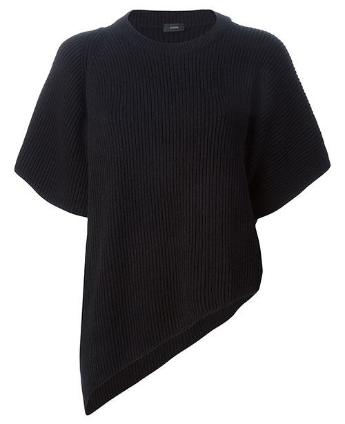 Asymmetrischer Pullover in Rippstrick von JOSEPH