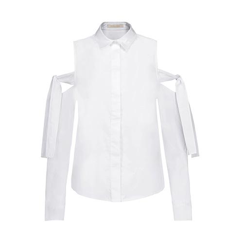 Jonathan Simkhai: Cut-out cotton poplin top
