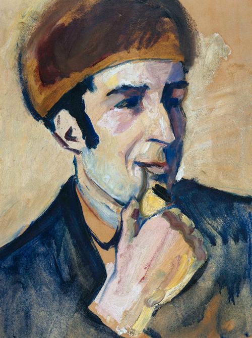 August Macke, Bildnis Franz Marc, 1910