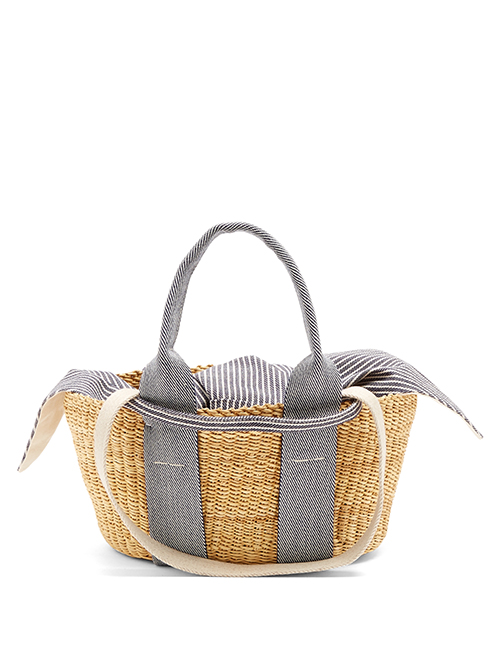 Muuñ über matchesfashion.com: George mini woven-straw tote