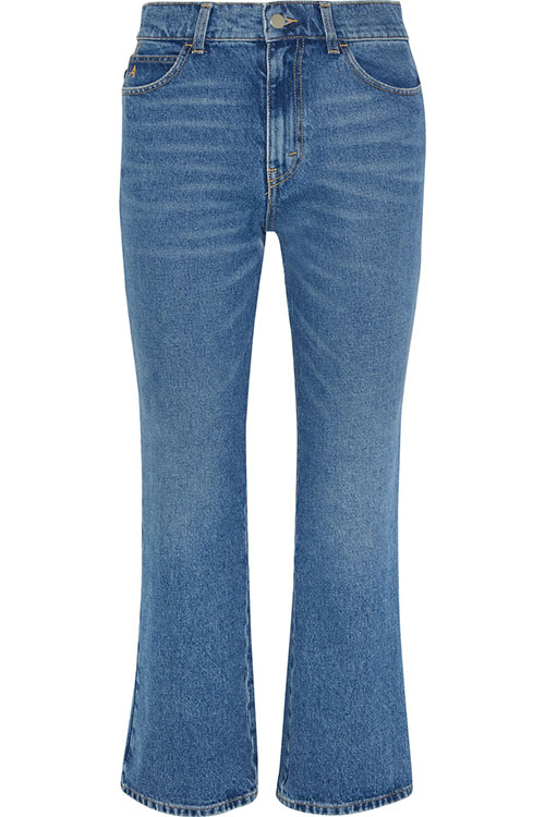 ATTICO über net-a-porter.com: Rosa cropped high-rise flared jeans