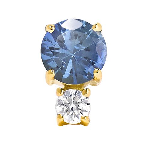Ohrring aus 18 Karat Gold mit Saphir und einem Diamanten von Jemma Wynne