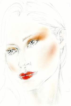 ORANGE-CRUSH-TREND-make-up-illustration-luis-huber-