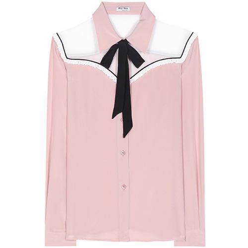 Silk blouse von Miu Miu