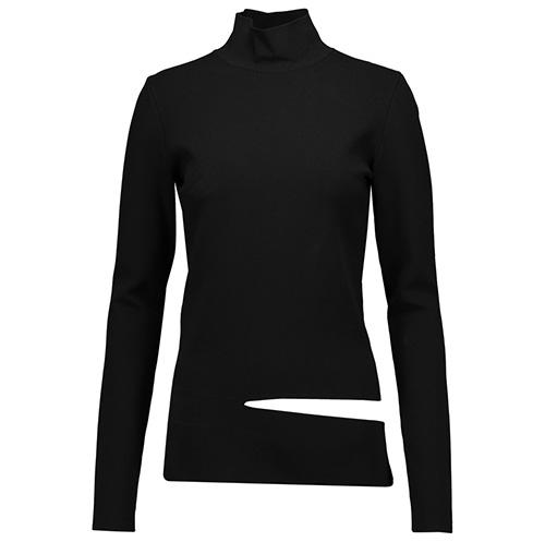 Proenza Schouler: Cut-out stretch knit turtleneck top