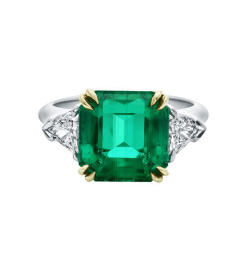 Classic Winston™, Emerald-Cut Emerald Ring von Harry Winston / Foto: PR