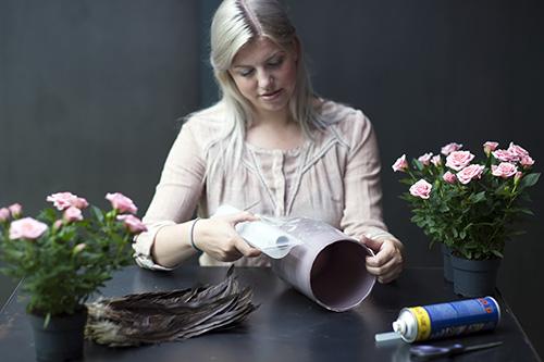 RS99519 DIY Schritt 1 Abkleben der Vase mit Folie