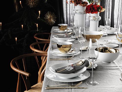 rosenthal geschirrset und besteckset von sambonet f r sechs personen flair fashion home. Black Bedroom Furniture Sets. Home Design Ideas