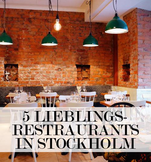 Top 5 Restaurants in Stockholm