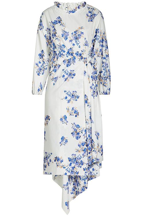 VETEMENTS über STYLEBOP.com: Bedrucktes Kleid mit asymmetrischem Saum