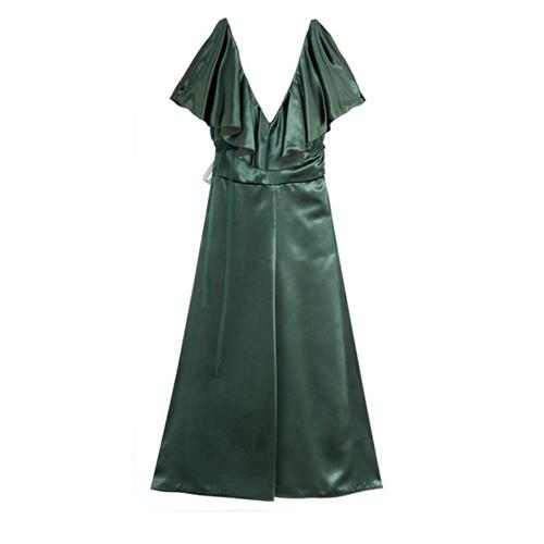Kleid aus Samt mit Rüschen von Valentino
