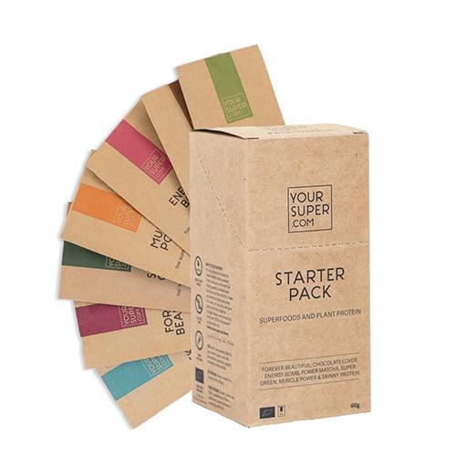 Starterpack mit Superfoods und Pflanzenproteinen von YOUR SUPERFOODS / Foto: PR