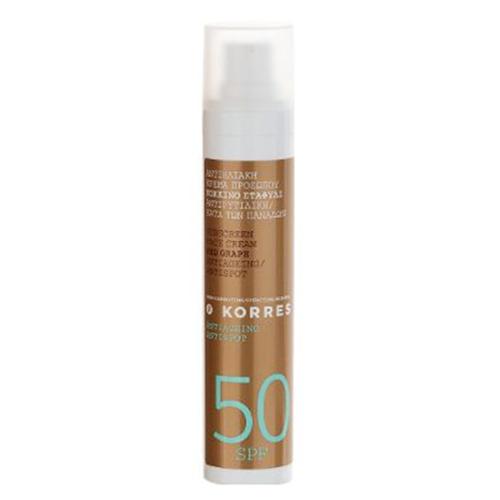 Sonnenschutz: Sunscreen Face Cream Red Grape SPF50 Antiageing/Antispot