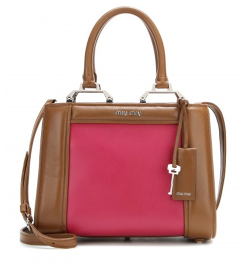 Miu Miu Two-Tone-Ledertasche