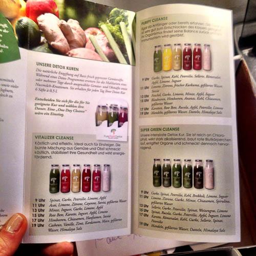 Hier werden die verschiedenen Juice Cleanse Kuren beschrieben