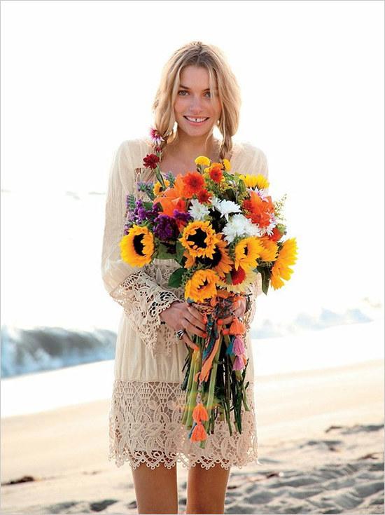 Romantisches Boho Hochzeitskleid von Free People