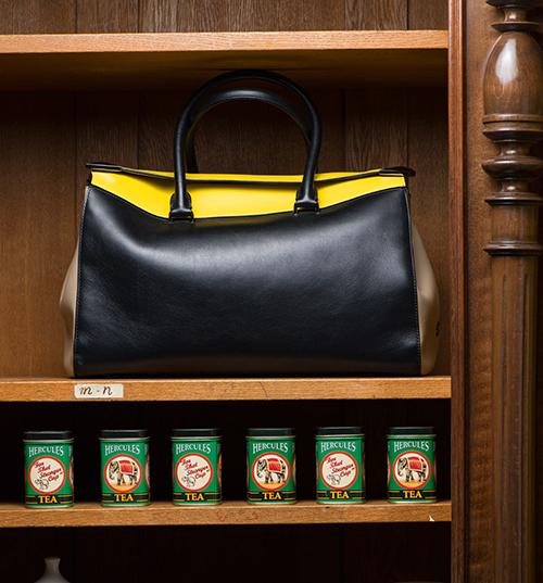 Tote-Bag aus Kalbsleder von Elena Ghisellini