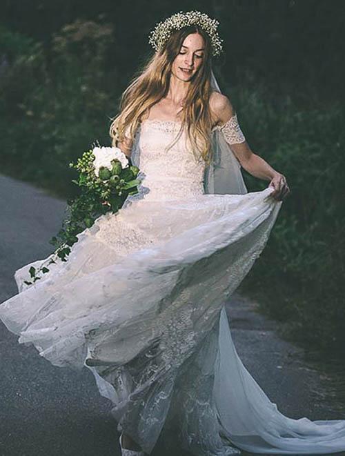 Boho Hochzeitskleid mit Layerings von Graceloveslace