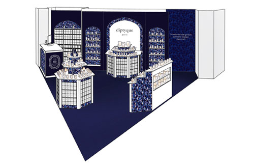 Diptyque pop up store in paris flair fashion home - Jean marc gady ...