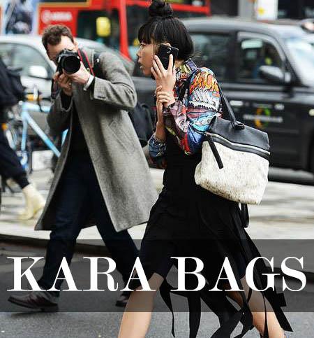 Susie Bubble mit einer KARA Bag