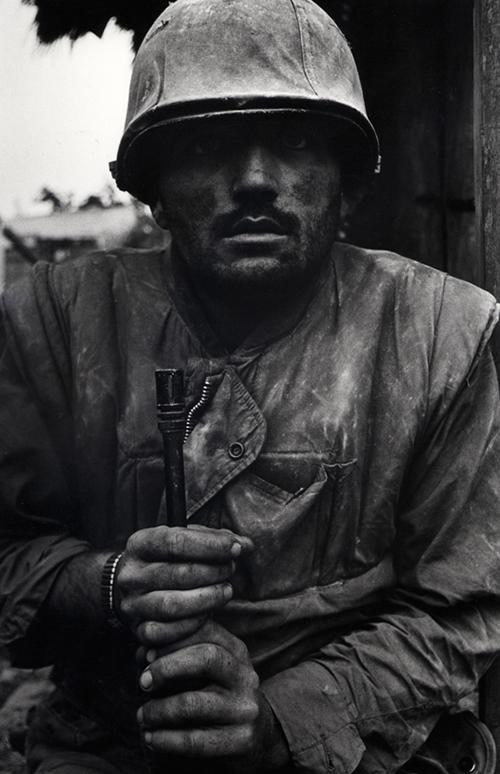 Don McCullin,Shell Shocked US Marine, Vietnam, Hue, 1968, printed 2013, © Don McCullin, courtesy Hamiltons Gallery, London.
