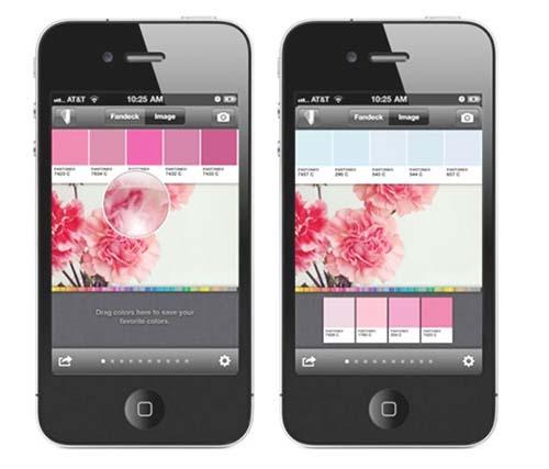 Mypantone - mehr zur App gibt's online auf pantone.de