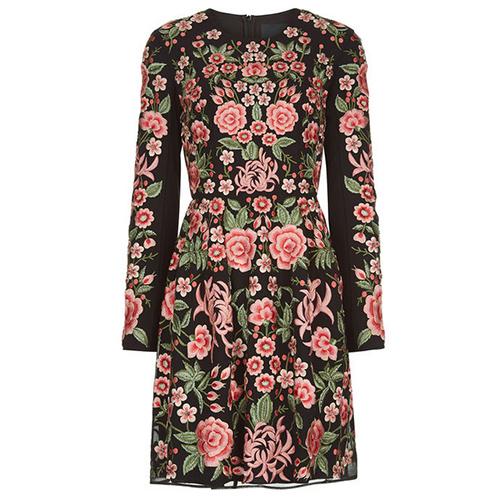 Black Rose Embroidered Prom Dress von Needle & Thread