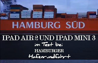 iPad Air 2 und iPad mini 3 im Test bei Hamburger Hafenrundfahrt